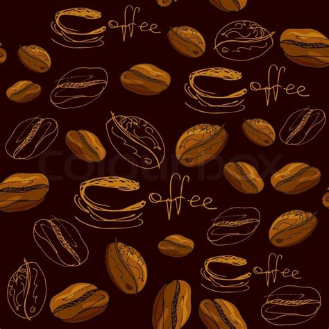 coffee cafe wallpaper vector seamless pattern with handdrawn coffee cups beans