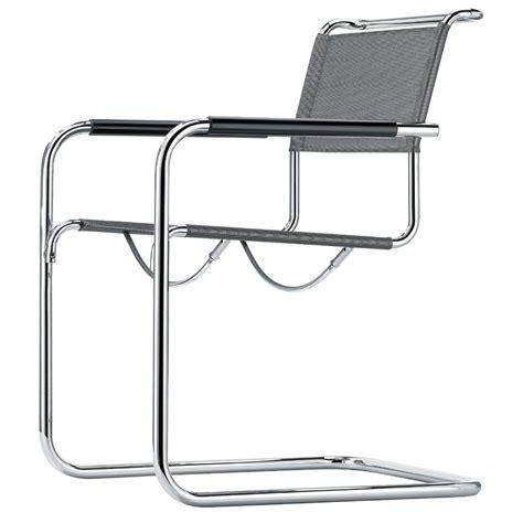 stühle grau leder freischwinger stuhl st 195 188 hle thonet stahlrohr bauhaus