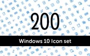 freebie 200 windows 10 icons set creative specks