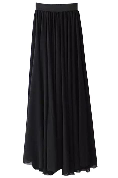 black pleated chiffon maxi skirt sale 22 00 ainchic