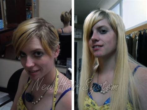 glue in hair extensions for short hair bad hair extensions fixed new hair system