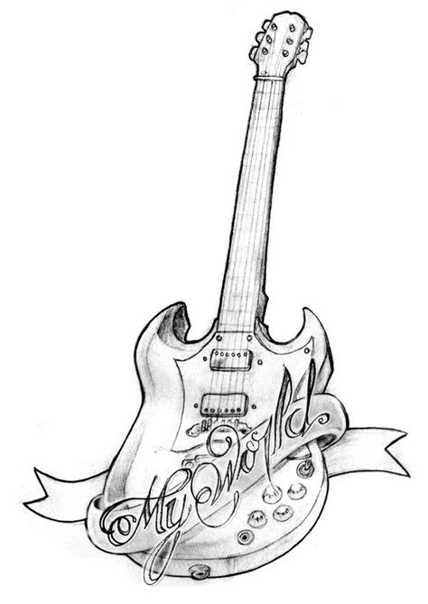 guitar tattoo designs art design gallery by gregory hinson