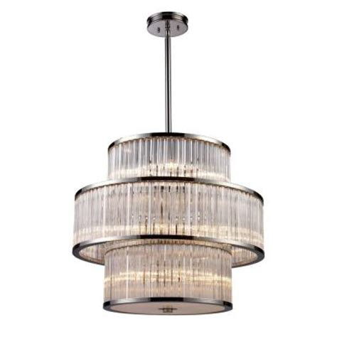 It S Exciting Lighting 24 Light Nickel Led Battery Battery Operated Pendant Light