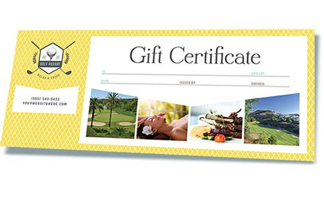 gift certificate templates word publisher microsoft