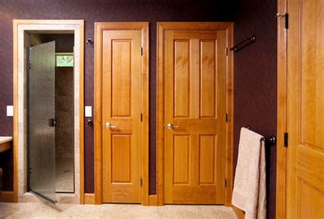 Stallion Doors by Cherry 4 Panel Door With Single Hip Raised Panels