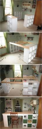 Creative Desk Ideas For Small Spaces Creative Ideas Diy Customized Craft Desk I Am Always A Fan Of L Shaped Layouts For Desks And