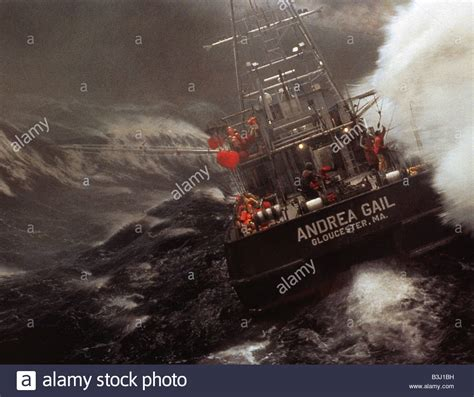fishing boat caught in storm the perfect storm 2000 warner film stock photo royalty