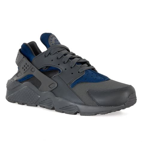 Nike Grey With Blue nike mens air huarache 417 trainers grey blue mens