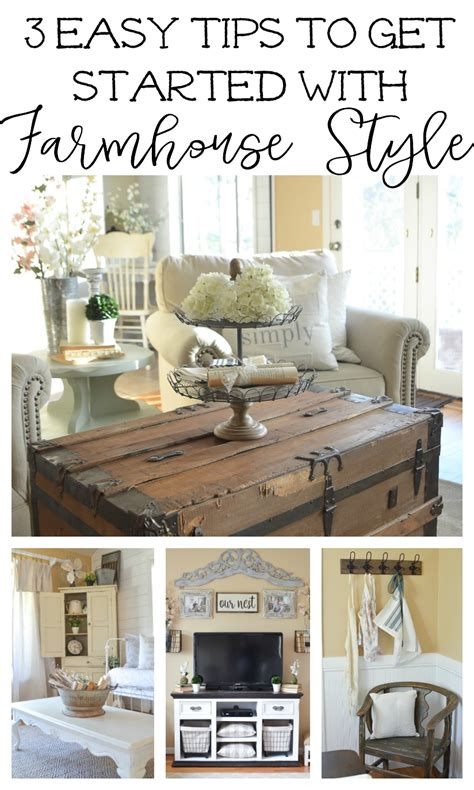3 tips to get started with farmhouse style