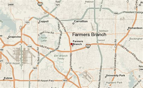 map of farmers branch texas farmers branch location guide