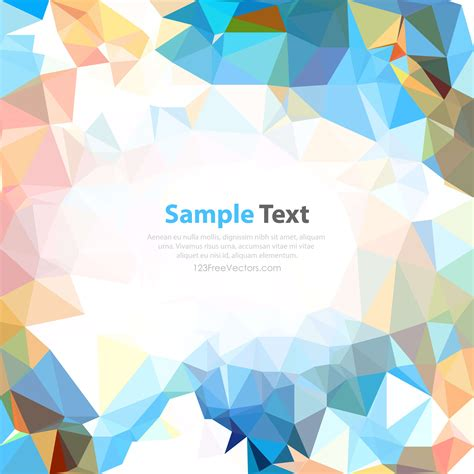 low poly background low poly colorful background 123freevectors