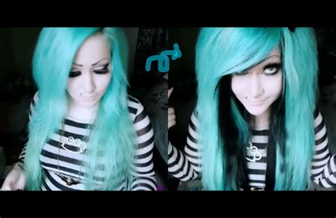 emo haircuts youtube how to make huge two color quot scene emo quot hair with