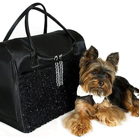yorkie carrier bags yorkie with black bag designer carriersdesigner carriers