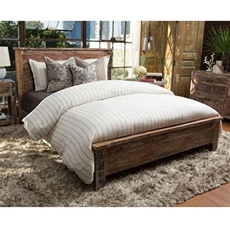 Cal King Wood Bed Frame by Reclaimed Wood Bed Frame Cal King Driftwood Furnitures