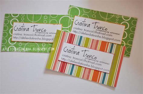 Handmade Visiting Cards - atelier da tininha passo a passo cart 227 o de visitas
