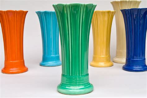 Fiestaware Vase by Vintage 10 Inch Original Green Fiestaware Pottery