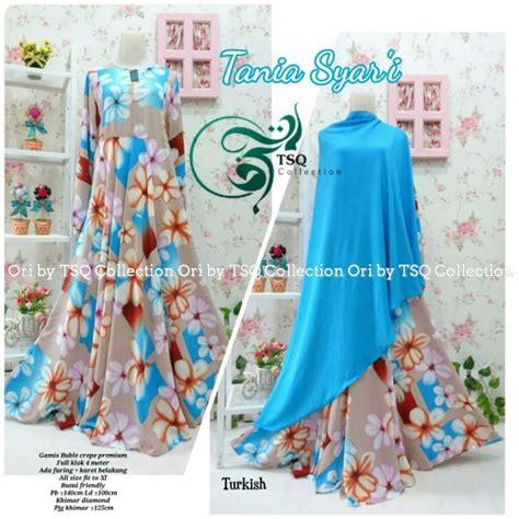 Aminah Syari Setelan Gamis Crepe Busui Umbrella Polos Tebal gamis cantik tania crepe baju muslim syar i terbaru
