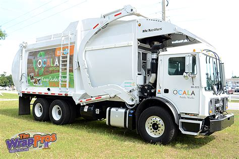 truck ocala fl ocala sanitation truck bb graphics the wrap pros
