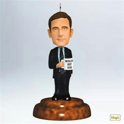 bobblehead the office hallmark magic ornament 2011 michael bobblehead