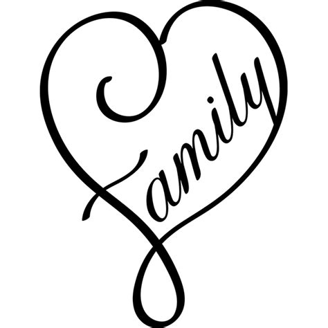 family heart digi cuts pinterest cricut silhouettes