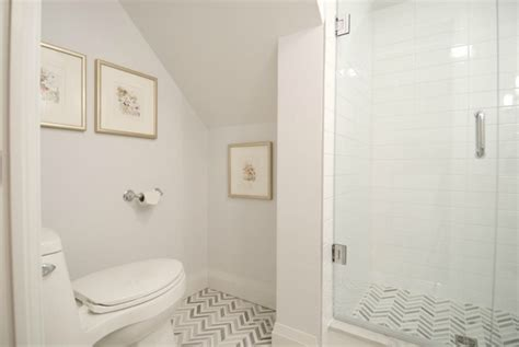 Bathroom Glass Tile Ideas Glass Shower And Chevron Tile Floor Income Property Hgtv