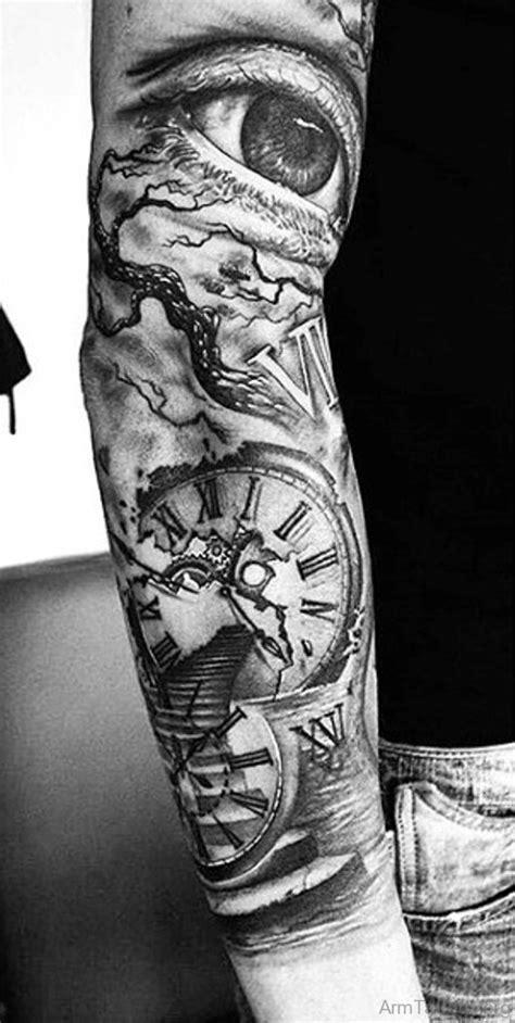 clock tattoos for men 50 brilliant clock tattoos on arm