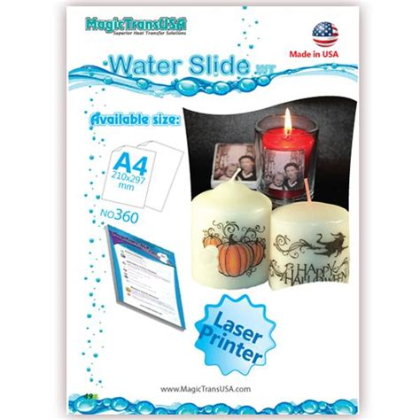 How To Make Water Slide Paper - a4 water slide papers decal paper laser transfer papers