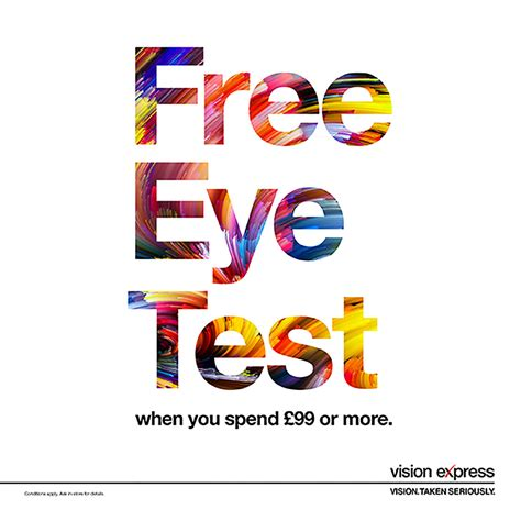 eye test free eye test at vision express