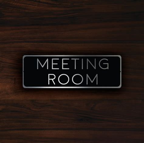 room sign meeting room sign