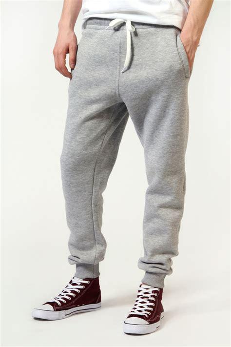 Jogger Grey boohoo mens cuffed sport trousers joggers in grey ebay