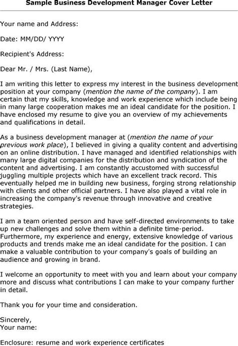 business development manager cover letter botbuzz co