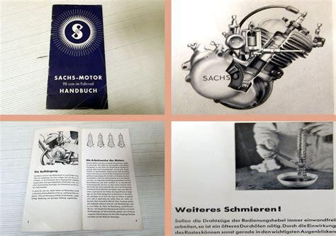 Sachs Motor Betriebsanleitung by Handbuch Sachs Motor 98 Ccm Im Fahrrad Betriebsanleitung