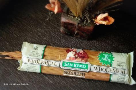 review spaghetti wholemeal merk san remo
