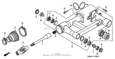 Honda 300 Rear End Diagram