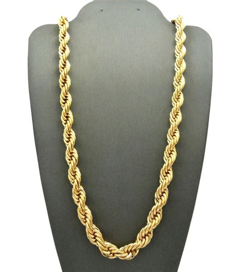 jewelry chains s 80 s hip hop rapper style hollow 6 8mm 24 quot 30 quot rope