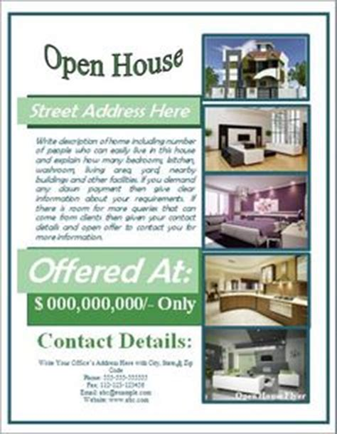 open house flyer template free 1000 images about open house flyer ideas on