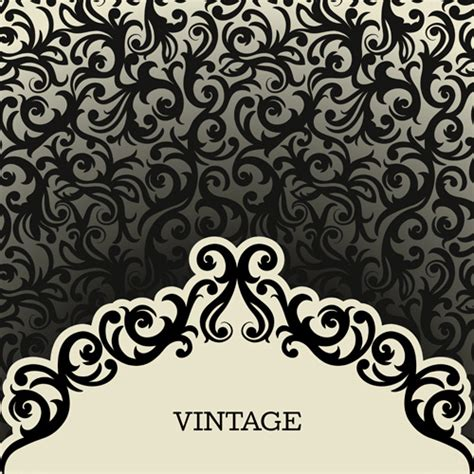 vintage pattern ai vintage background with decoration pattern vector free