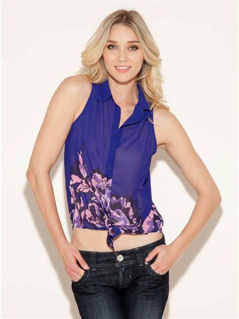 simple stylish sleeveless shirts tops  girls girlshue
