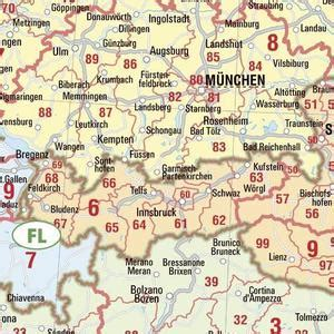 zip code map europe bacher verlag postal code map europe