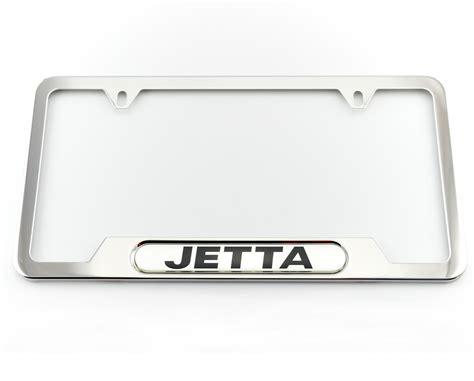 volkswagen jetta license plate frame jetta polished frames vanity frames stainless