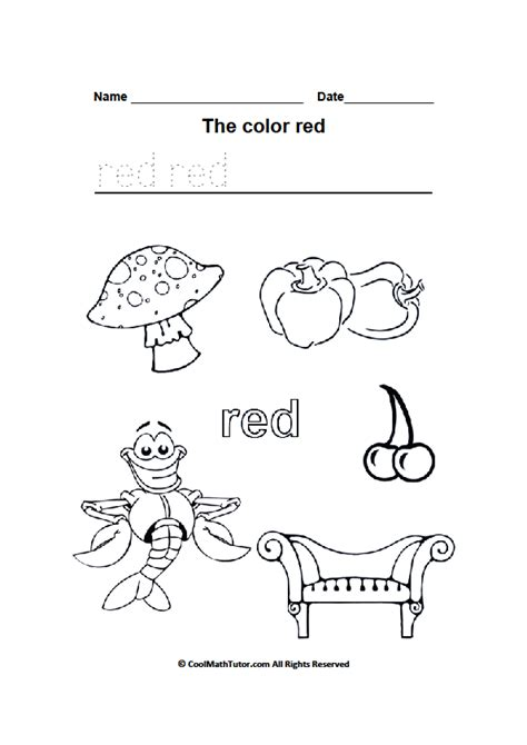 preschool red coloring pages color red coloring pages vitlt com