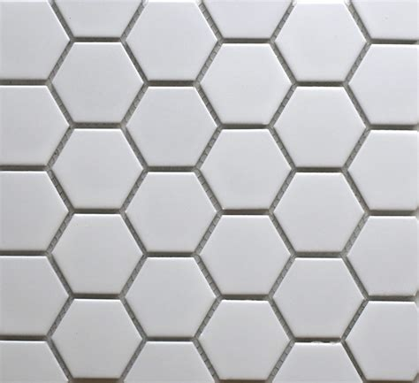 26858 hexagon matt white 50mm bespoke tile amp stone