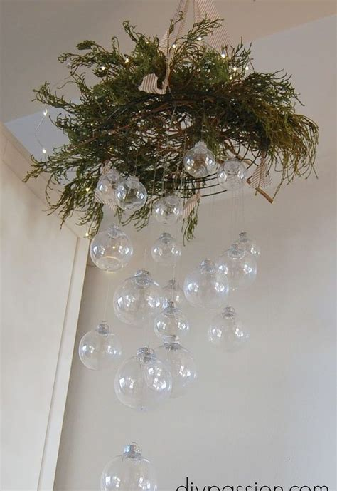 Diy Clear Ornament Hanging Chandelier Hometalk Ornaments Hanging From Chandeliers