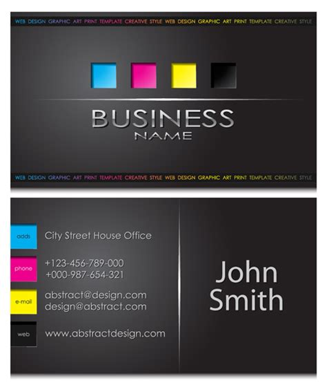 modern business cards front and back template vector 05