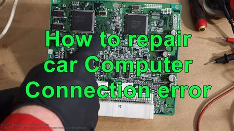 repair car computer ecu connection error issue