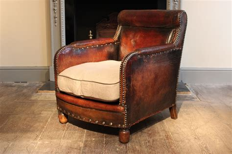 french leather armchair vintage french leather armchair 1920s for sale at pamono