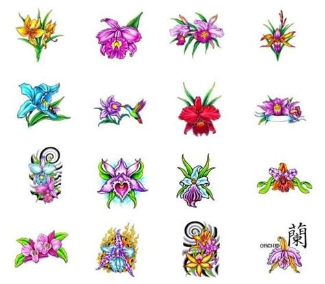orchid tribal tattoos tribal and orchid designs