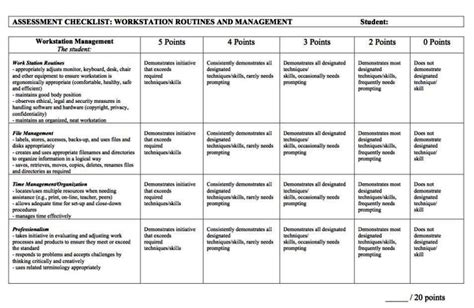 Workstation Assessment Template by Workstation Assessment Template Sletemplatess