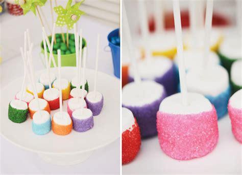 themes in marshmallow rainbow pinwheel party theme kids birthday hostess
