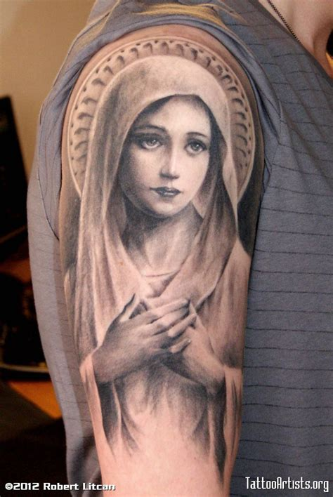 virgin mary back tattoo best 25 ideas on